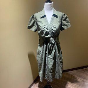 Motherhood maternity khaki dress